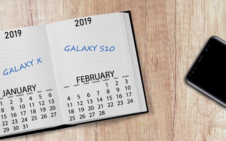 Назвали время дебюта Samsung Galaxy S10 и складного Galaxy X
