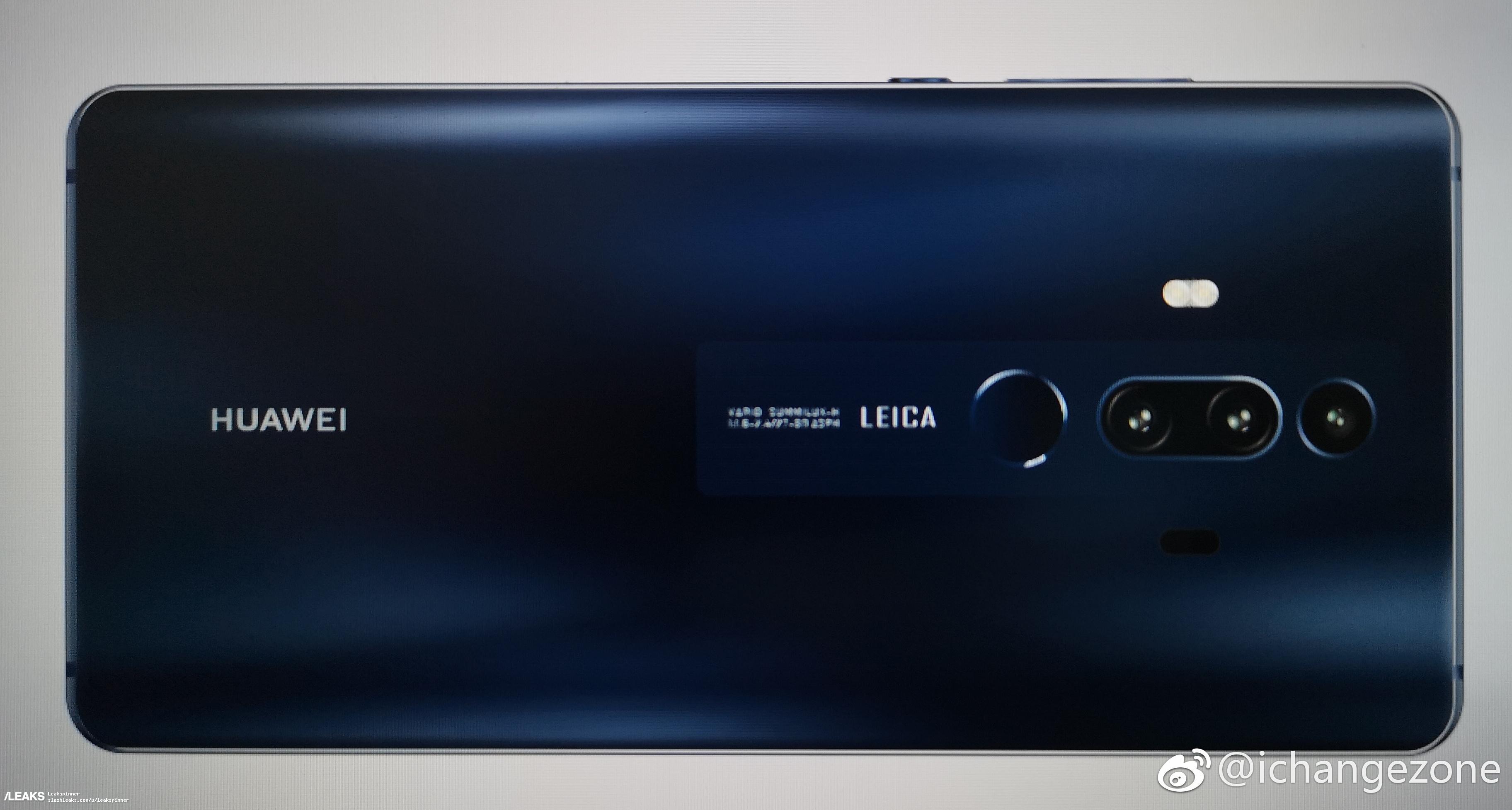 Рендеры Huawei Mate 20 и Mate 20 Pro с тройными камерами