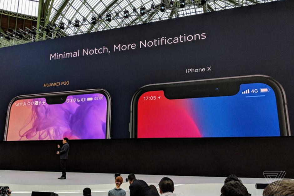 Huawei: размер «моноброви» имеет значение