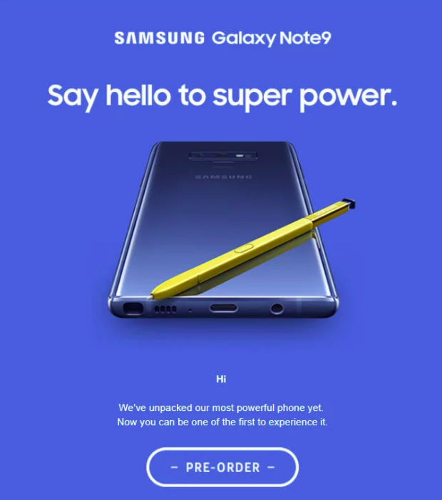 Официальное пресс-изображение Samsung Galaxy Note 9
