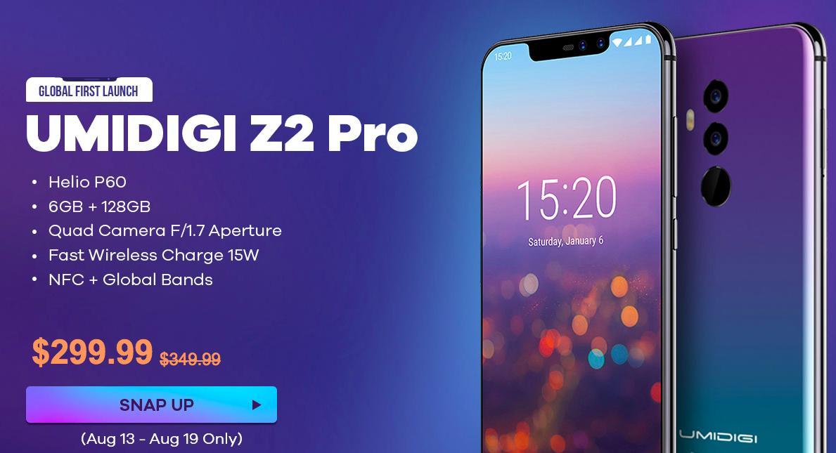 Смартфон UMIDIGI Z2 Pro и ноутбук Teclast F5 временно сбросили в цене