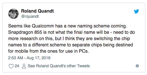Snapdragon 855 могут переименовать и полноценным 5G процессором станет Snapdragon 865
