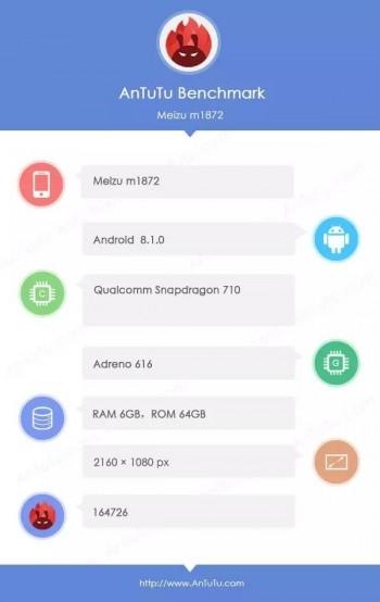 Характеристики Meizu 16X из AnTuTu