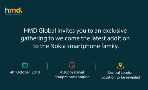 4 октября HMD Global представит новый смартфон Nokia