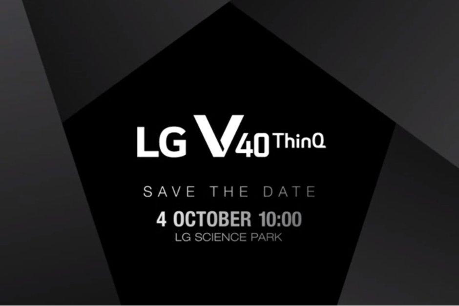 Премьера LG V40 ThinQ состоится 4 октября