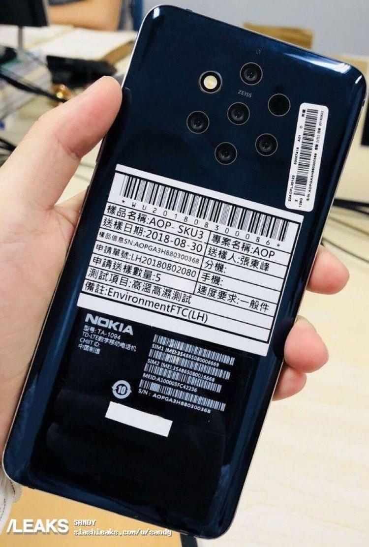 Рекордсмен по количеству камер от Nokia на «живом» снимке