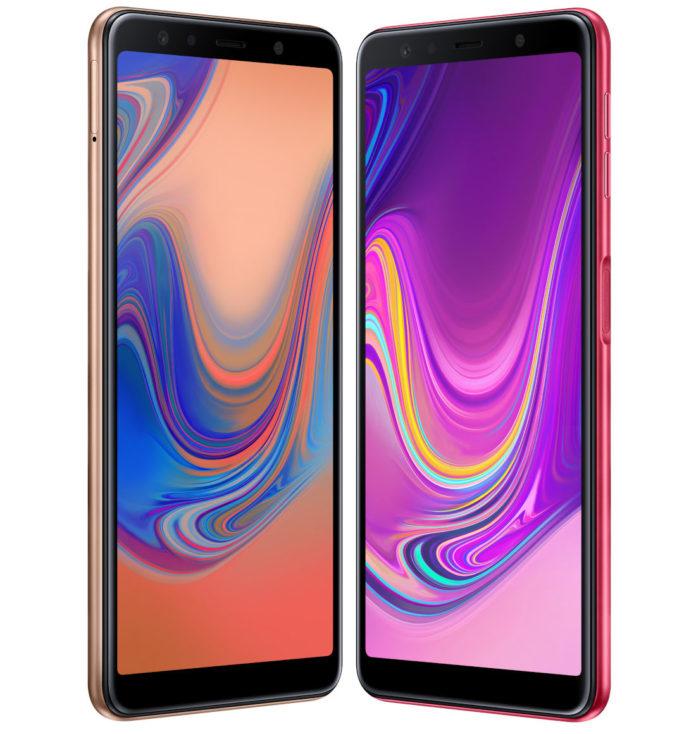 Анонс Samsung Galaxy A7 (2018): тройная камера и дактилоскопический датчик на боку