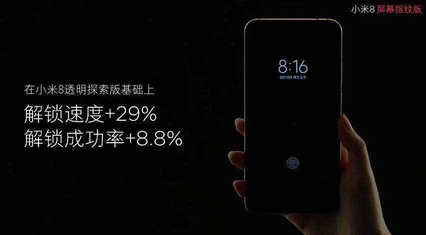 Дебютировал Xiaomi Mi 8 Screen Fingerprint Edition с экранным биометрическим сканером