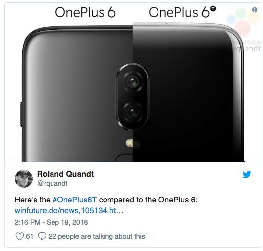 OnePlus 6T показали в рекламном ролике