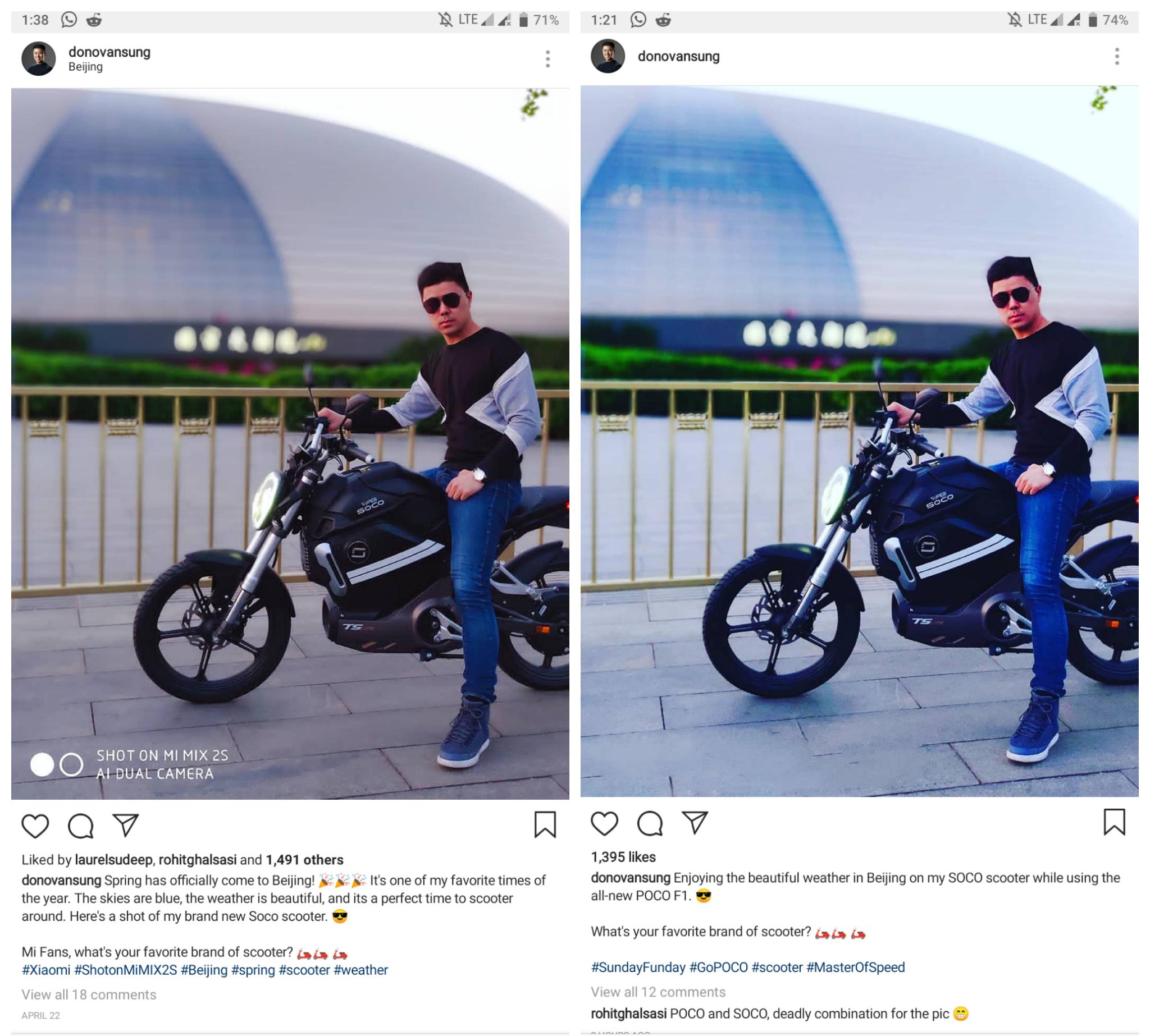 Пресс-секретарь подставил Xiaomi с поддельным снимком на камеру Pocophone F1
