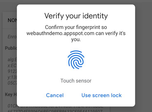 Google Chrome 70 поддерживает авторизацию по сканеру отпечатков пальцев