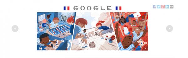 Google праздничным дудлом отметил сегодняшний старт четвертьфинала ЧМ-2018